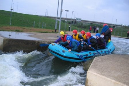 Fundraising at Nene Whitewater rafting c