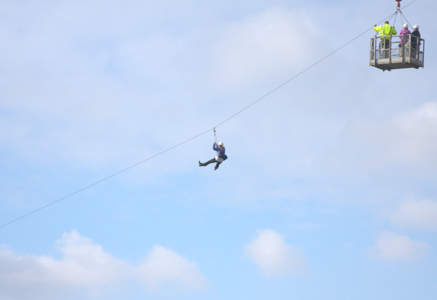 Zip slide at Dudley Kingswinford Rugby C