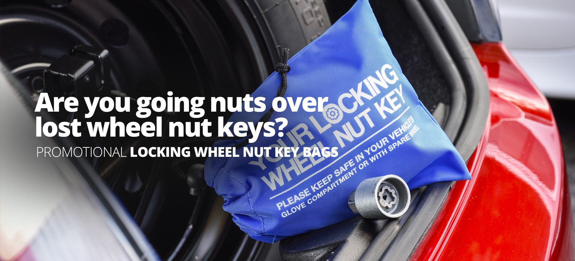 locking wheel nut banner