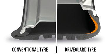 Driveguard tyre vs conventional