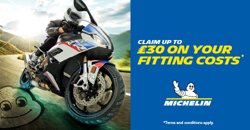Save £30 off a pair of Michelin motorcy