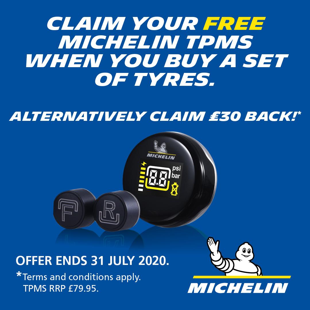 Claim Free TPMS system or £30 cash back