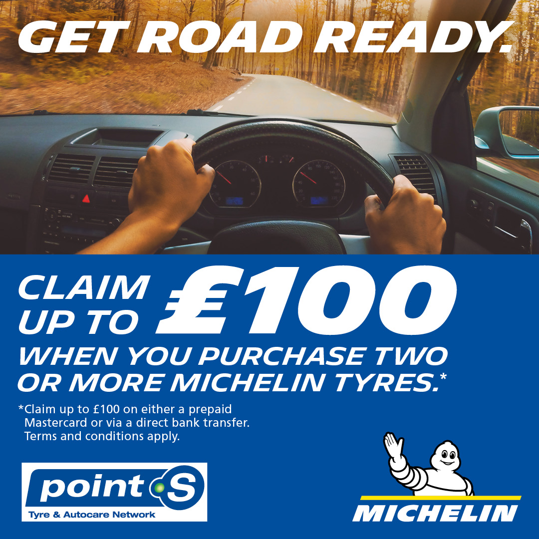 Claim up to £100 when buying Michelin t