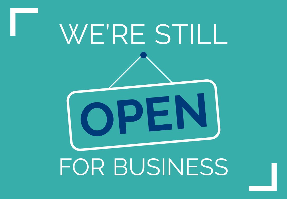 WE ARE OPEN THROUGH THE NATIONAL LOCKDOW
