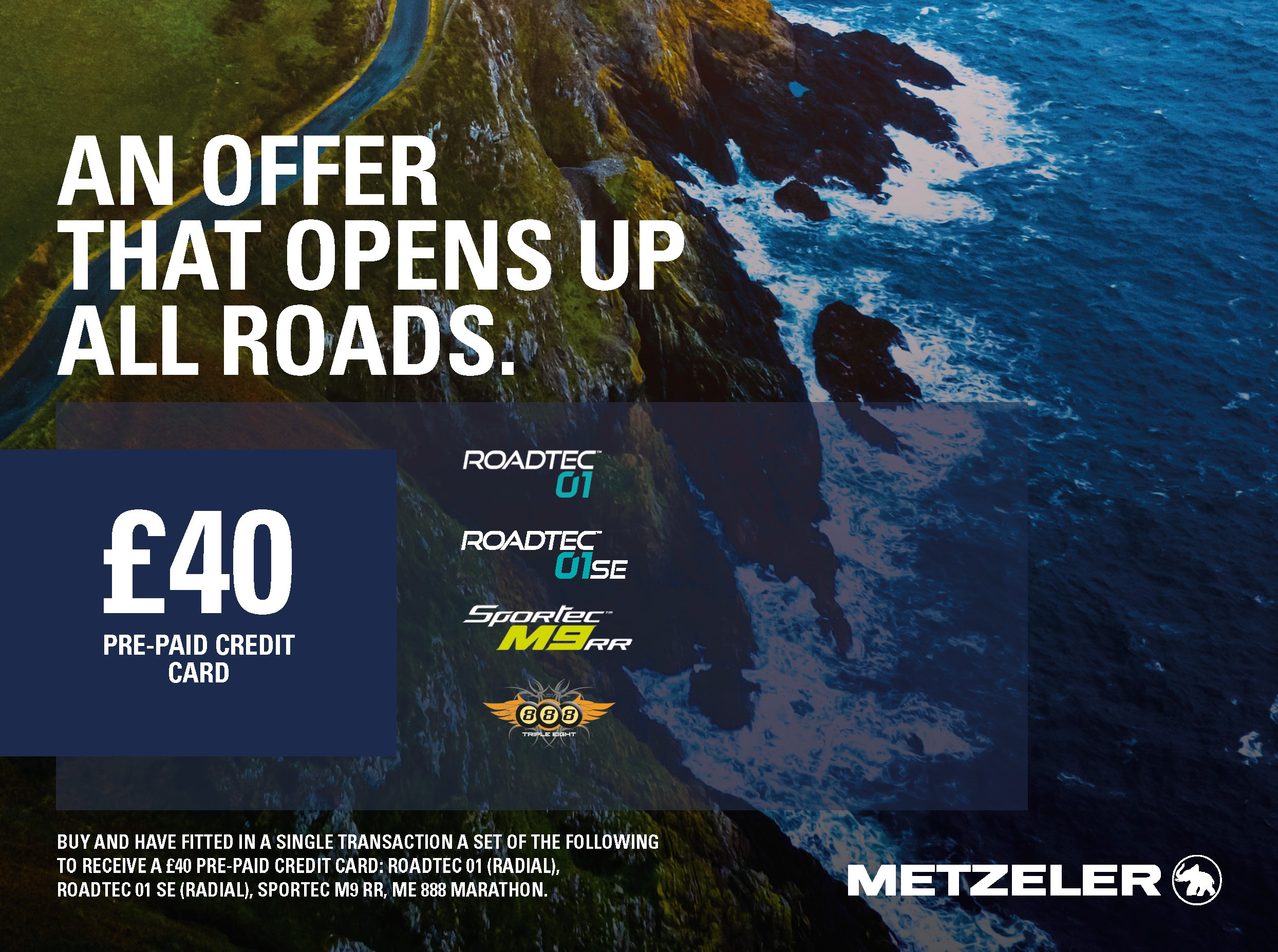 Claim £40 back with Metzeler motorcycle