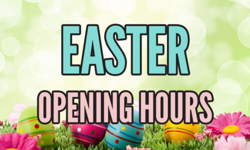 We are closed Mon 5th April and Tues 6th